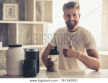 Man With Sport Nutrition