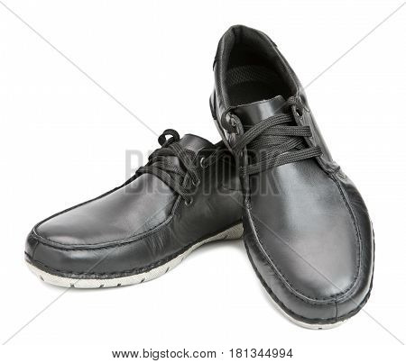 Men boots . Still-life on a white background