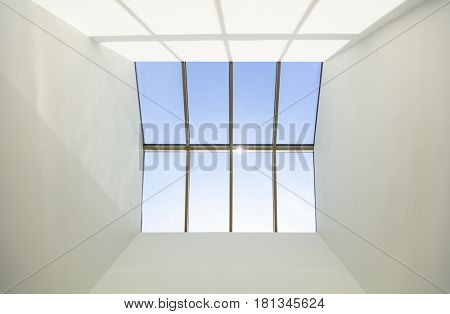 Skylight window on a building's roof
