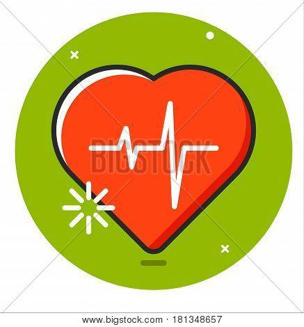 Heart pulse human icon illustration design rasterized