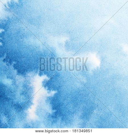 Vivid blue diffluent watercolor background