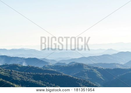 Mountain Landscape And Skyline