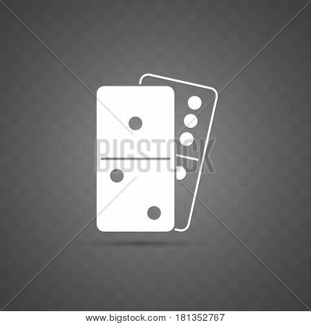 Isolated domino icon on transparent background vector illustration. Logo perfect for casino and other gambling games