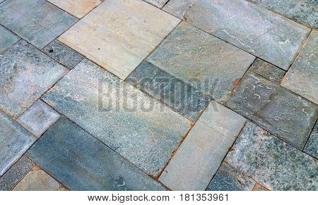 Background of rectangular stones with different sizes