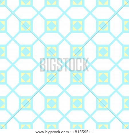 Classic geometric ornament. Squares, line and diamonds. Good for children, decoration paper, home, design, concept, clothing, handicraft and scrap booking.