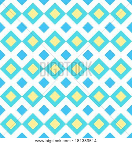 Classic geometric ornament. Squares and diamonds. Good for children, decoration paper, home, design, concept, clothing, handicraft and scrap booking.