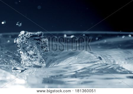 Water background / water, water splash, splash, background, wallpaper, art, abstract, design, concept, idea, photo, color, colorless, transparent, blue water, drink, mineral water poster