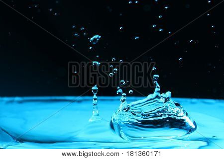 Water splash as a wallpaper / Water is a transparent and nearly colorless chemical substance that is the main constituent of Earth's streams, lakes, and oceans, and the fluids of most living organisms.
