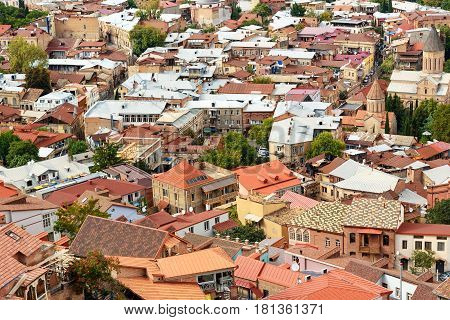 View Of Roofs Of Old City Tbilisi, Georgia