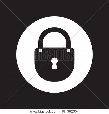 Black flat simple padlock vector icon for web.
