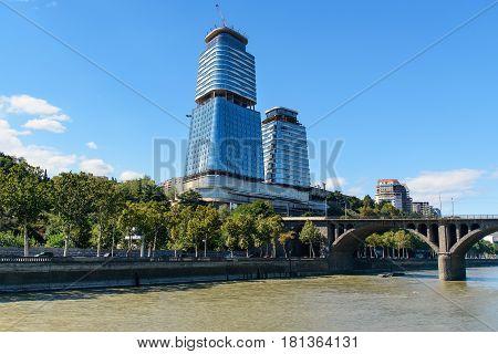 Modern Buildings In Tbilisi Georgia.