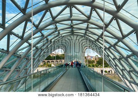 Bridge Of Peace In Tibilisi, Georgia