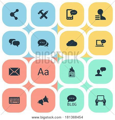 Vector Illustration Set Of Simple Newspaper Icons. Elements Gain, Post, Notepad And Other Synonyms Gain, Earnings And Coming.