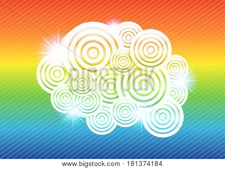Abstract Colorful Circle Background Vector Illustration with glow