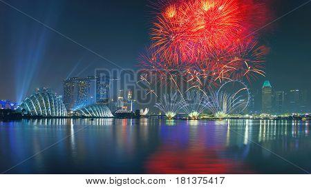 F-1 Fireworks at Marina bay sands, Singapore