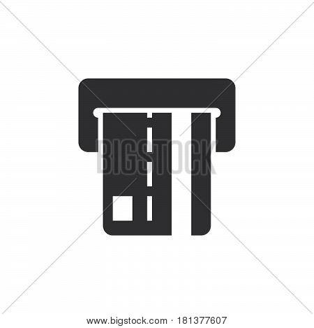 Atm Icon Vector, Solid Logo, Pictogram Isolated On White, Pixel Perfect Illustration