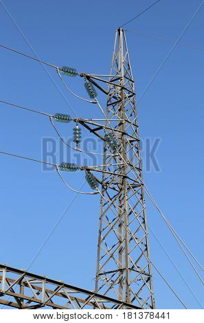 High Voltage And Power Line Pylon