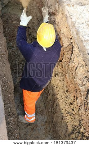 Worker In The Trench