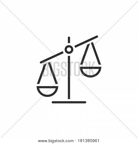 Scale Line Icon, Libra Outline Vector Logo, Linear Pictogram Isolated On White, Pixel Perfect Illust
