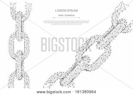 Abstract mash line and point Cloud of dialogue on white background with an inscription. Starry sky or space, consisting of stars and the universe. Vector business illustration