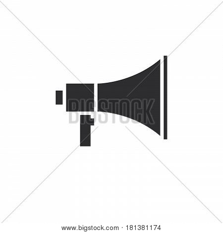 Bullhorn Icon Vector, Megaphone Solid Logo, Pictogram Isolated On White, Pixel Perfect Illustration