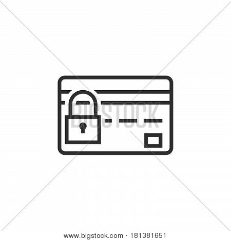 Credit Card Security Line Icon, Safe Payment Concept Outline Vector Logo, Linear Pictogram Isolated