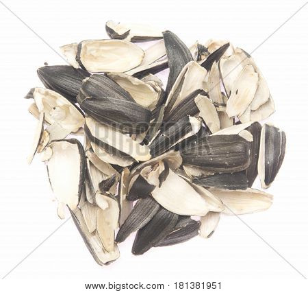 sunflower husks isolated on a white background