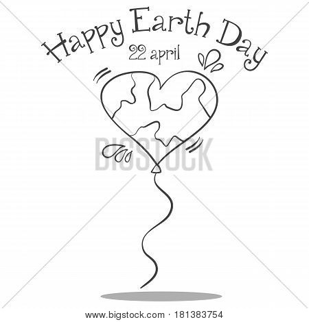 Happy Earth Day collection stock vector illustration