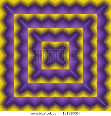 Bright, Psychodelic Seamless Pattern. Decorative Design Template. Square Abstract Background. Violet