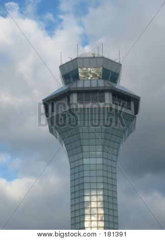 control tower airport poster