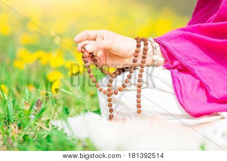 Use Of Mala With Mantras During A Yoga Practice