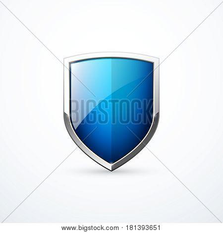 Vector blue shield icon. Vector illustration eps 10
