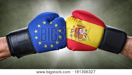 A boxing match between the European Union and Spain