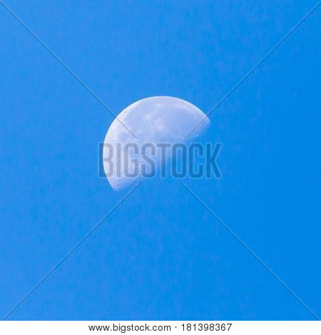 moon in the blue sky . A photo