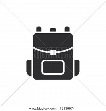 Backpack Icon Vector, Rucksack Solid Logo, Pictogram Isolated On White, Pixel Perfect Illustration