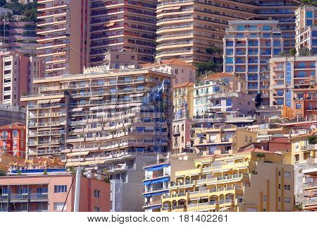 detil of flats appartments and archetecture in Monaco