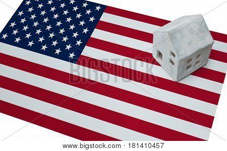Small House On A Flag - Usa