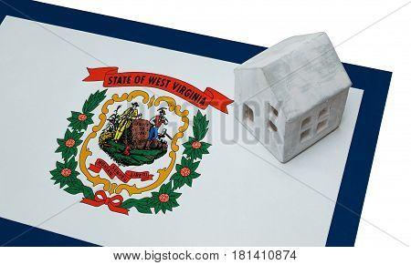 Small House On A Flag - West Virginia