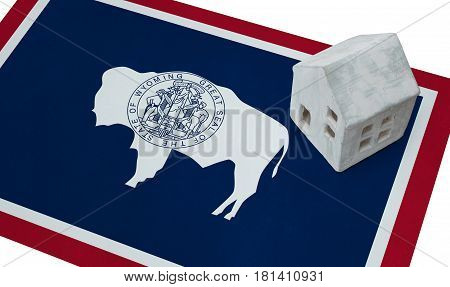 Small House On A Flag - Wyoming