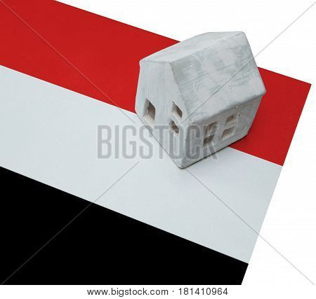 Small House On A Flag - Yemen