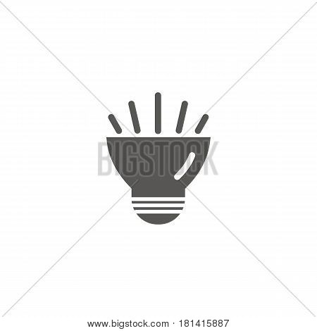 Simple vector icon of a bulb. Traditional diode form. Silhouette.