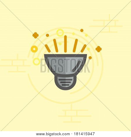 Simple vector color icon of a bulb. Traditional diode form.