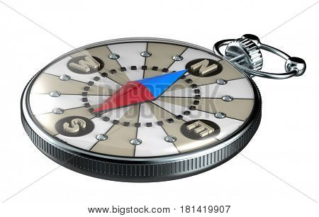 compass icon, 3d render, isolated on white background