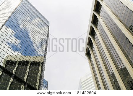 Skyscrapers And Reflections