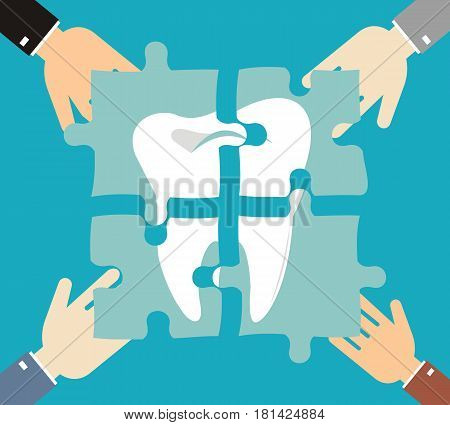 tooth of the puzzle dental caries treatment teeth