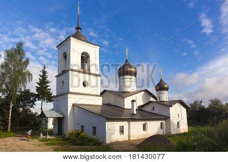 View on St. Nicholas church in Ostrov, Pskov region