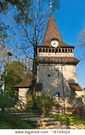 Bell Tower Of The Church Of Avas