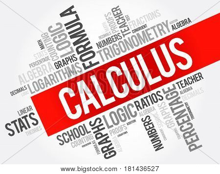 Calculus Word Cloud Collage