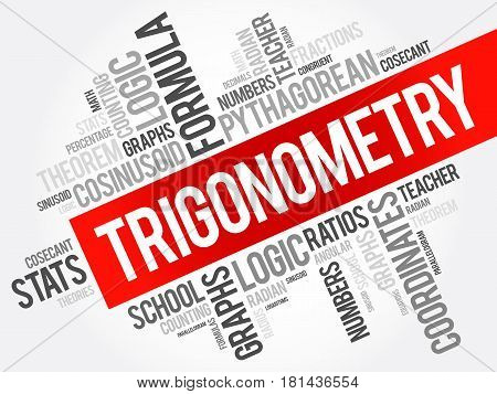 Trigonometry Word Cloud Collage