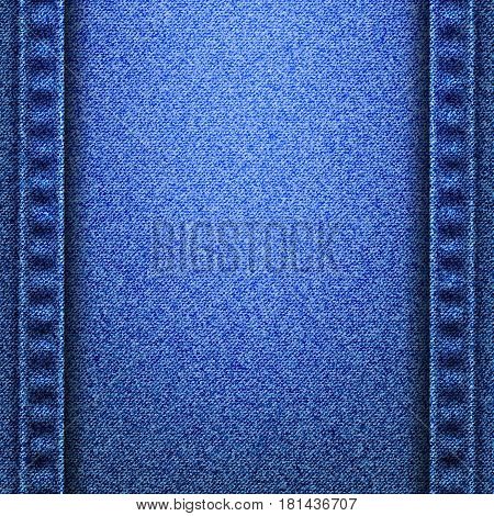 Denim jeans texture and seams without strings. Vector illustration